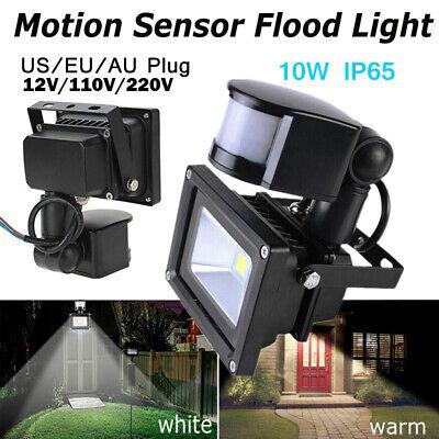 10W-50W Led Motion Sensor Flood Lights Outdoor Human Body Induction Lamp Slim
