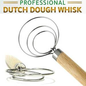 """9/"""" The Original Danish Dough Whisk LARGE Stainless Steel Dutch Whisk Kitchen s"""