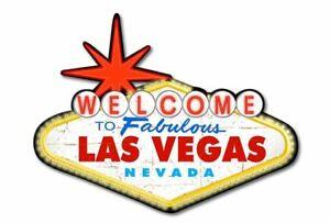 Welcome-To-The-Favolosa-Las-Vegas-Nevada-a-Forma-di-Metallo-Segno-450mm-x-330mm