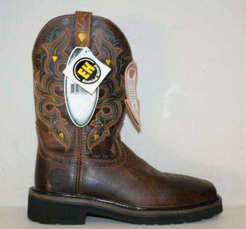 Justin Womens Boots Sz 7.5 B Sunney Comp Square To