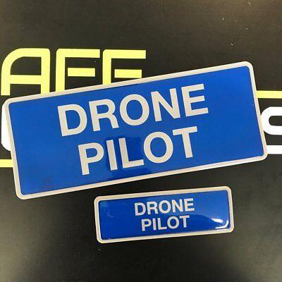 Encapsulated Reflective DRONE PILOT Badge SET 250mm
