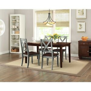 Details about Farmhouse Dining Room Table Set Rustic Rectangle Wood Kitchen  Tables And Chairs