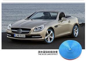 8m Auto Accessories Car Universal Exterior Wheel Rim Guard Decorative Blue Line Ebay