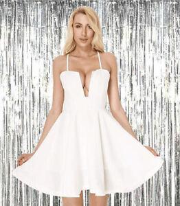 Moxeay-Women-Sleeveless-Spaghetti-Strap-V-Neck-Mini-Skater-Dress-Club-Mini-Dress