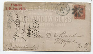 1868-New-York-ad-cover-window-glass-grilled-1861-3ct-y2166
