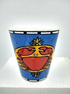 Ursula Dodge Seattle Fish & Crab Coffee Mug Rare Early Design