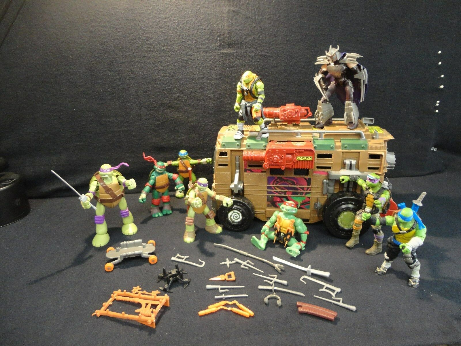 Playmates Teenage Teenage Teenage Mutant Ninja Turtles TMNT - VAN And Accessories 99e4b4