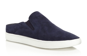 Vince Women's Verrell Deep bluee Suede Slip On Sneakers Sz 10M 2489