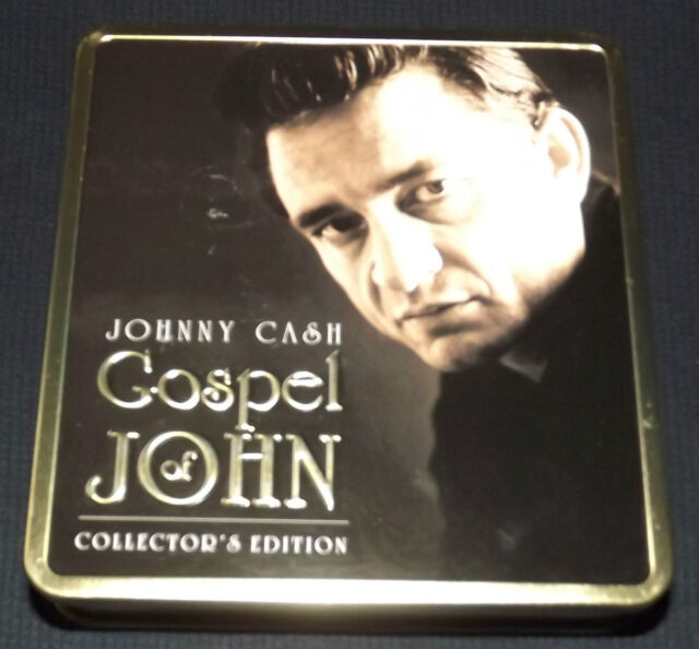 Collectible 2008 Johnny Cash Gospel of John Collector's Edition Tin Canister