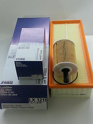 Seat Toledo 2.0 TDI 1968cc Oil Air Filter Service Kit Genuine Mahle 2005-2011