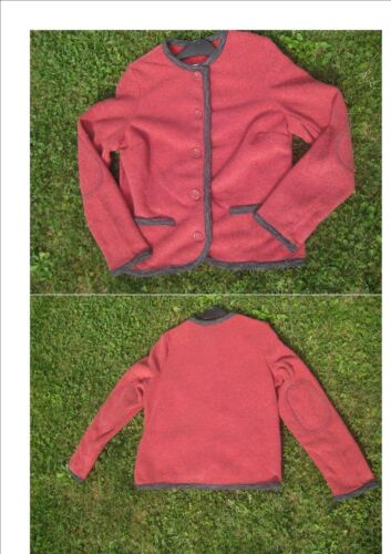 48 NEU Super Trachtenweste Jacke in rot//grau  Gr