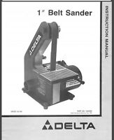 Delta Rockwell Milwaukee 6 Quot Belt Sanders Instructions