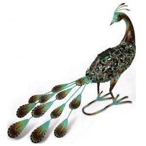 Primus-Hand-Crafted-Metal-Solar-Peacock-Light-Decorative-Garden-Bird-Sculpture