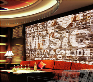 3d Wall Music Graffiti 834 Wallpaper Mural Paper Wall Print