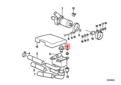 BMW E24 E28 E32 Mono Valve Repair Kit Heater Solenoid Valve OE# 64118390132
