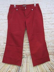 Banana-Republic-Women-039-s-Red-Capri-Pants-Size-6-Back-Pocketless-100-Cotton