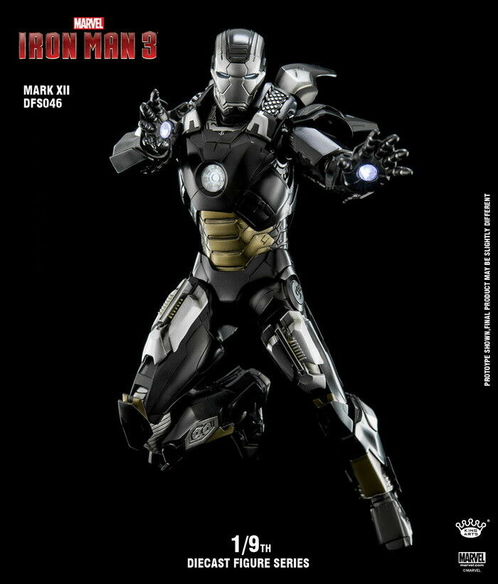 King Arts DFS046 1 9th Iron Man Man Man Mark12 Ultimate Alltronic Figure Model Toy Metal 6805a6