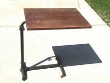 ANTIQUE/VINTAGE CAST IRON ADJUSTABLE DRAFTING TABLE