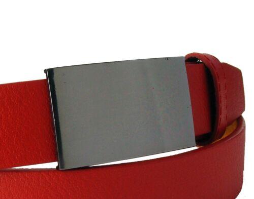 Herrengürtel Damengürtel Koppelschnalle rot  schmal glatt 2,7 cm breit HRG55