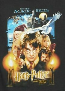 HARRY-POTTER-And-The-Sorcerer-039-s-Stone-Move-Poster-T-Shirt-KIDS-sz-XXL-18