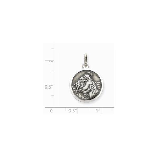 .925 Sterling Silver antique St Anthony Médaille Charme Pendentif fabricants Standard prix de détail $57
