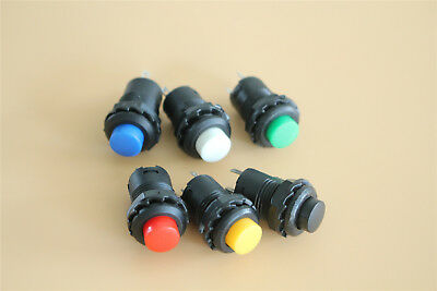 10 PCS MARINE BOAT CAR 12MM MINI ROUND RED PUSH BUTTON SWITCH MOMENTARY ON-OFF