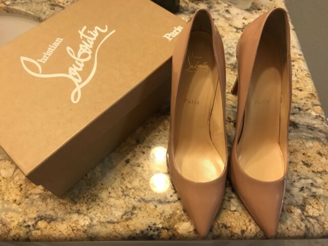 8d7c96a04078 Buy Christian Louboutin Pigalle 100mm Pump in Nude Patent Size 40 ...