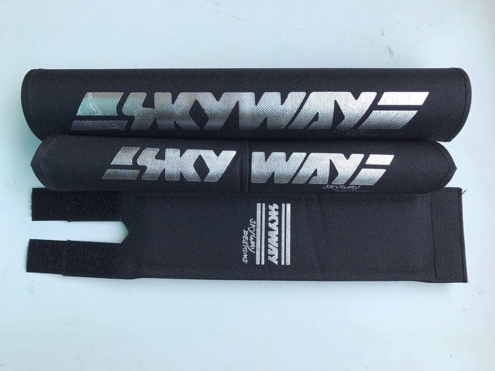 Skyway Bmx Pad Set V Oldschool REPOP Kuwahara Blk Chrome PK Ripper Tange