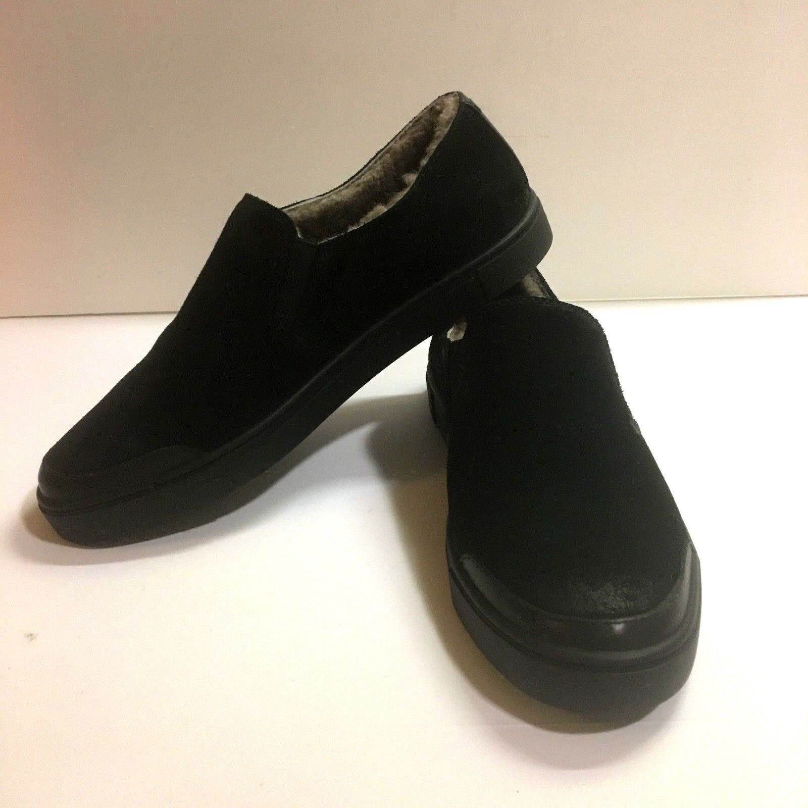 Frye 9 noir GEMMA Shearling Lacet Chaussures Daim effet vieilli cuir