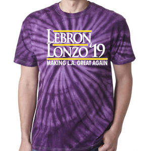 info for e8874 cde48 Details about Tie-Dye Lebron James Lonzo Ball Los Angeles Lakers