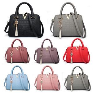 Image Is Loading Fashion Womens Las Designer Leather Handbag Tote Shoulder