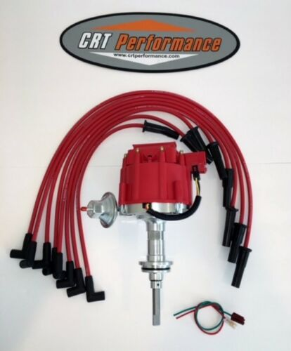DODGE SMALL BLOCK 1964-89 273 318 340 360 HEI DISTRIBUTOR RED Spark Plug Wires