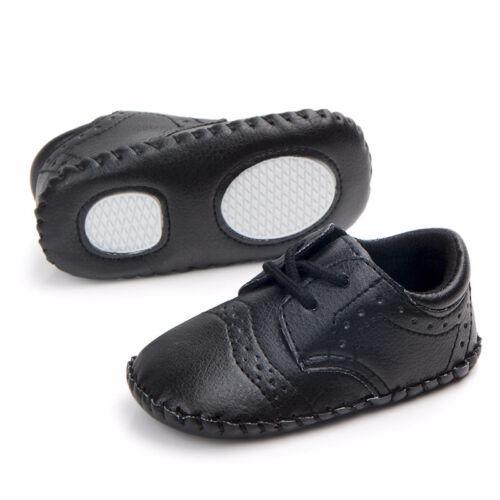 Bébé garçons premiers marcheurs Lacets polyuréthane Infant soft sole Crib Shoes Sneaker