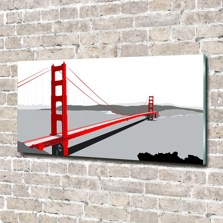 Acrylglas-Bild Wandbilder Druck 140x70 Deko Landschaften San Francisco Brücke