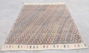 Turkish-Kilim-Area-Rug-Vintage-Turkish-Kilim-Rug-Tribal-Kilim-Rug-5-039-7-x-7-039-3