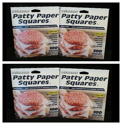 Burger Discs Non- Stick Parchment Paper for Burger Press and Patty Makers Meatballs Burger Patties 12 cm Round Wax Sheets for Hamburger 500 Pieces
