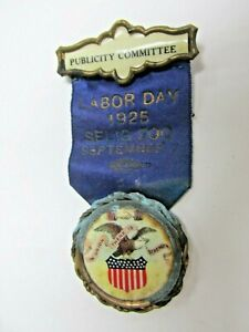 Vintage 1925 Labor Day Selig Zoo Publicity Committee Ribbon Bastian Bros. Co