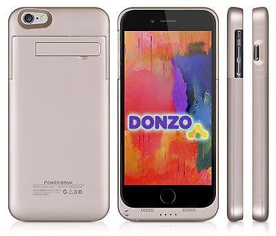 Power Akku Case Hülle Tasche Notlader für Apple iPhone 6 Plus oro