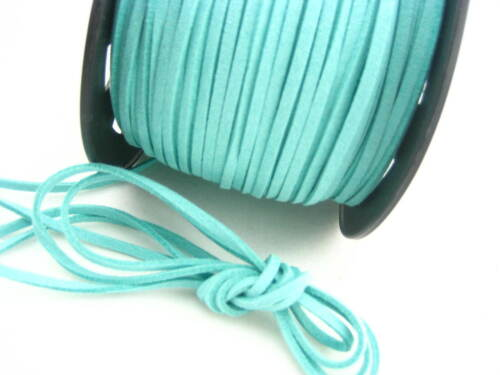 6 meters Blue Leather Cord soft Suede Lace velvet Thread DIY Bracelet findings