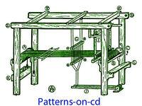 1900s How To Build Floor Loom Plans & Hand Weaving