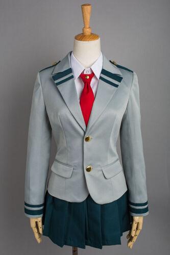 My Boku no Hero Academia Tsuyu Cosplay Costume Girls School Uniform Dress Outfit