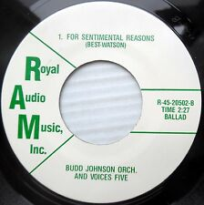 3song r&b 45 Budd Johnson Voices 5 CHANTERS Sonny Boy Williamson Mary Ellen mg19