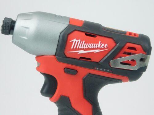 "Milwaukee Hex Impact Driver 2462-20 M12 12V  Li-Ion 1//4/"" Cordless 12 Volt"
