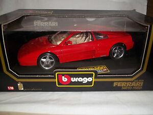 Burago-3039-Ferrari-348tb-1989-ROJO-1-18-Menta-amp-en-caja-Hecho-en-Italia
