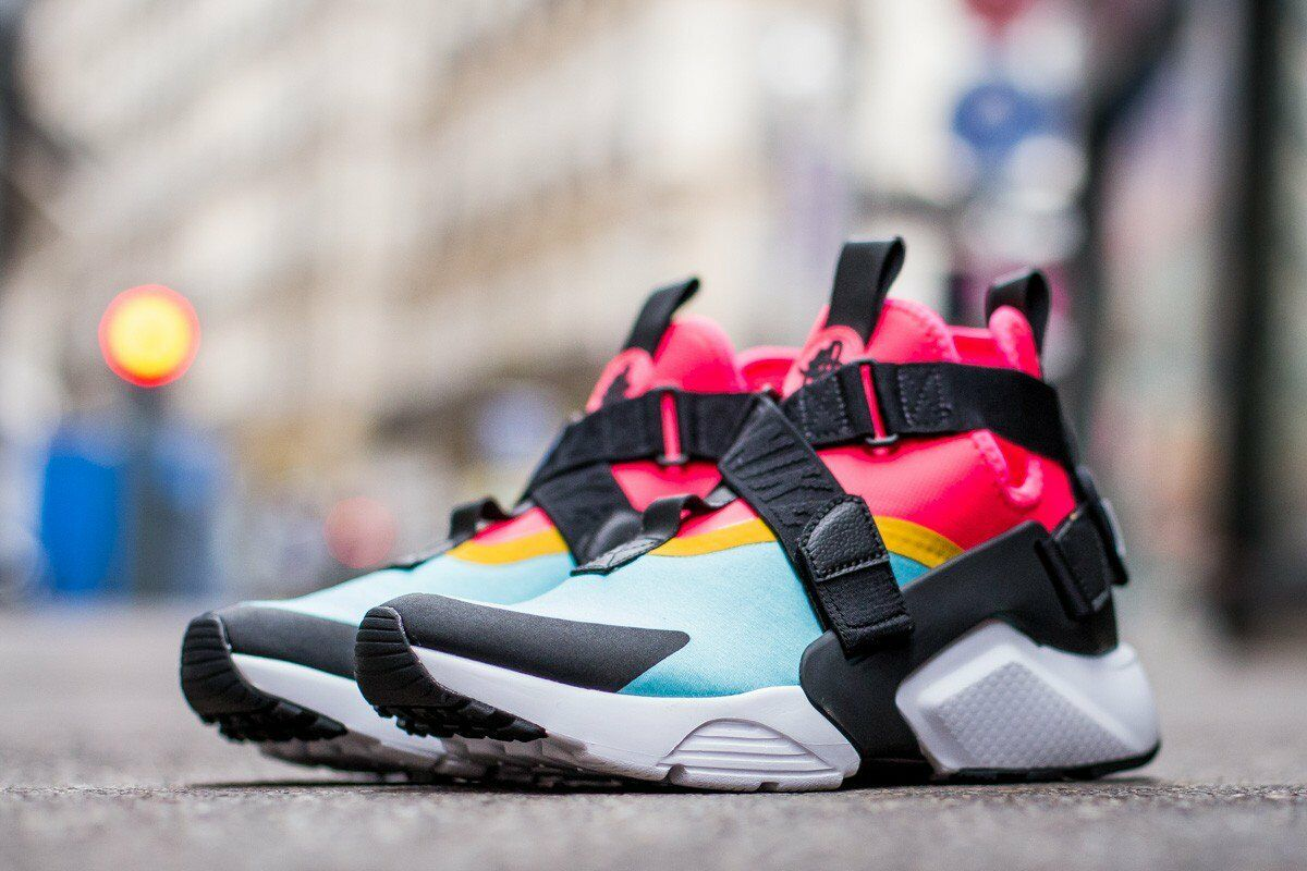 AUTHENTIC AUTHENTIC AUTHENTIC  NIKE Air Huarache City Aqua Nero Racer Pink AH6787 400 Donna size 0cf627
