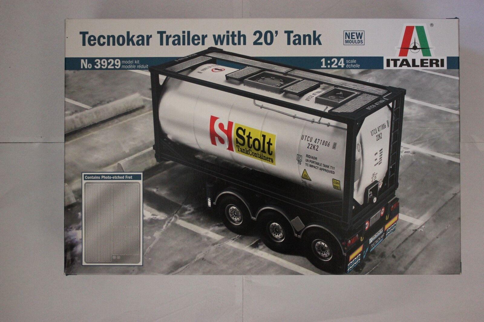 ITALERI 3929 Tecnokar Trailer with 20' Tank 1 24 Scale