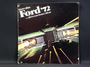 1972 FORD GALAXIE LTD BROUGHAM CONVERTIBLE WAGON MASTER AMERICAN SALES BROCHURE