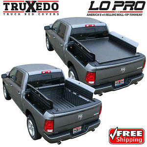 Rambox Tonneau Cover >> Truxedo Lo Pro Tonneau Roll Up Bed Cover For 09 18 Dodge Ram 1500 W