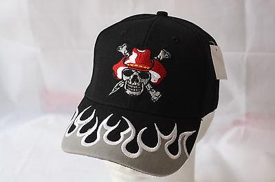 Freundschaftlich Biker Cap Baseball-cap Kappe Verstellbar Totenkopf Flammen