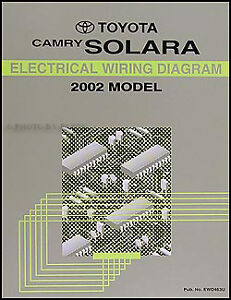 details about 2002 toyota camry solara electrical wiring diagram manual oem schematic book 2002 Toyota Solara Wiring Diagram